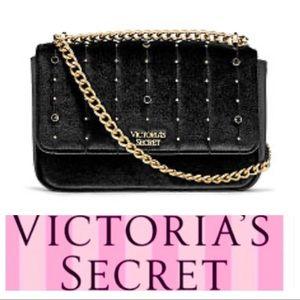 NEW VICTORIA's SECRET Velvet Stud Shoulder BAG